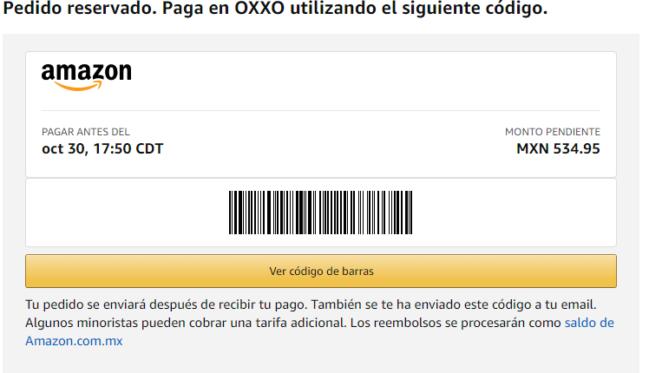 🥇Cómo pagar Amazon en OXXO