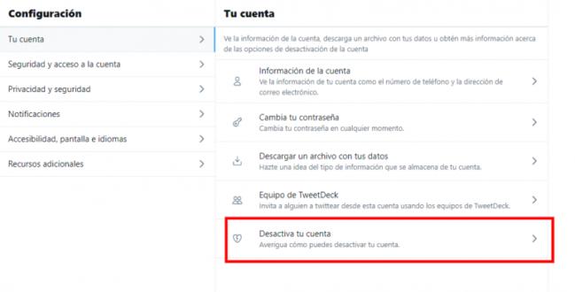 ▶️ Cómo eliminar cuenta de Twitter definitivamente