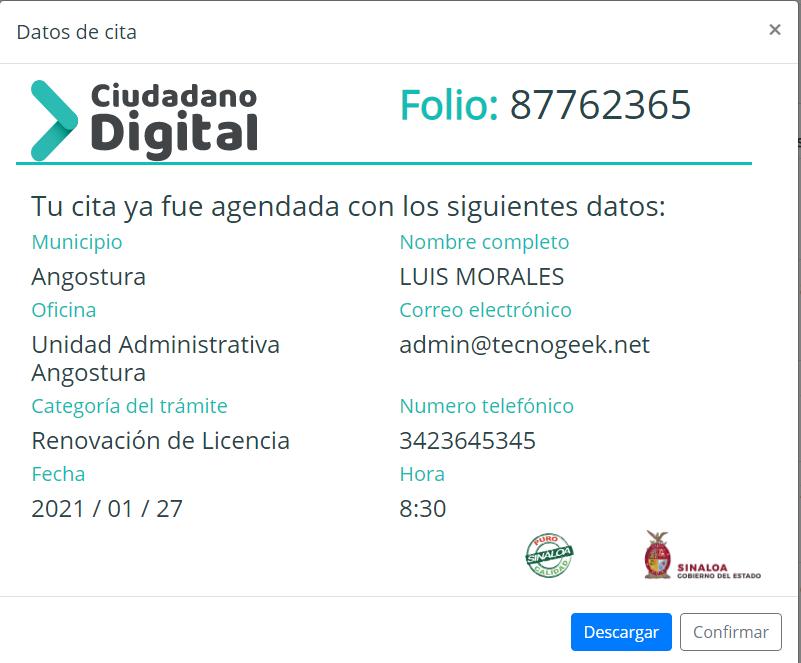 Renovar licencia de conducir en Sinaloa