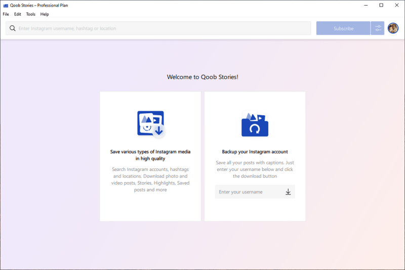 Qoob Stories: descargar fotos, vídeos y Stories de Instagram en tu ordenador