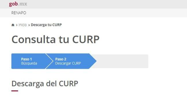 ↓↓Imprimir CURP nuevo formato