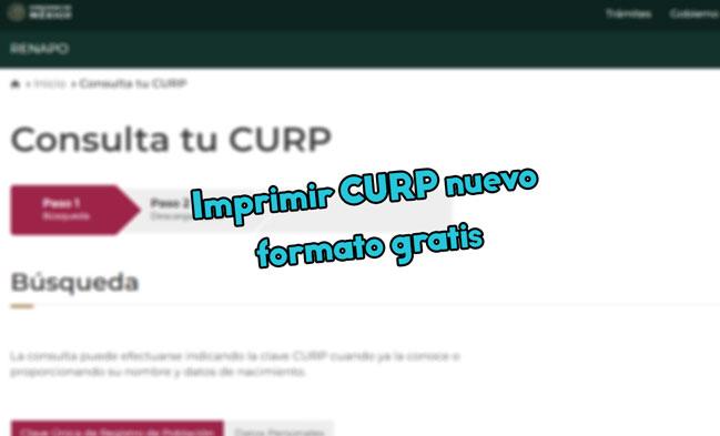 👉Imprimir CURP nuevo formato