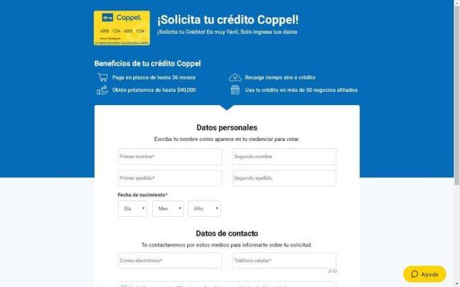 🤑Solicitar Crédito Coppel en línea