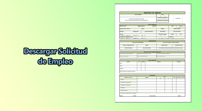 ▷ Formato de solicitud de empleo