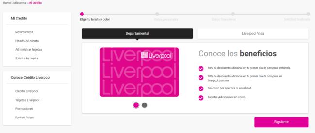 ✍Solicitar tarjeta Liverpool en línea